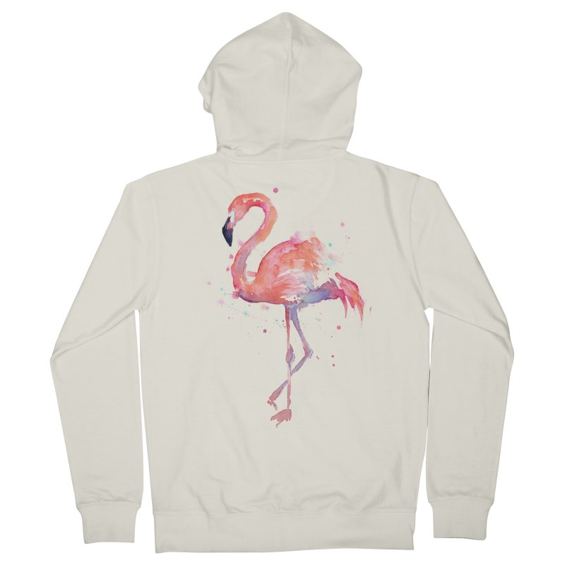 Flamingo Men's Zip-Up Hoody by Art by Olga Shvartsur