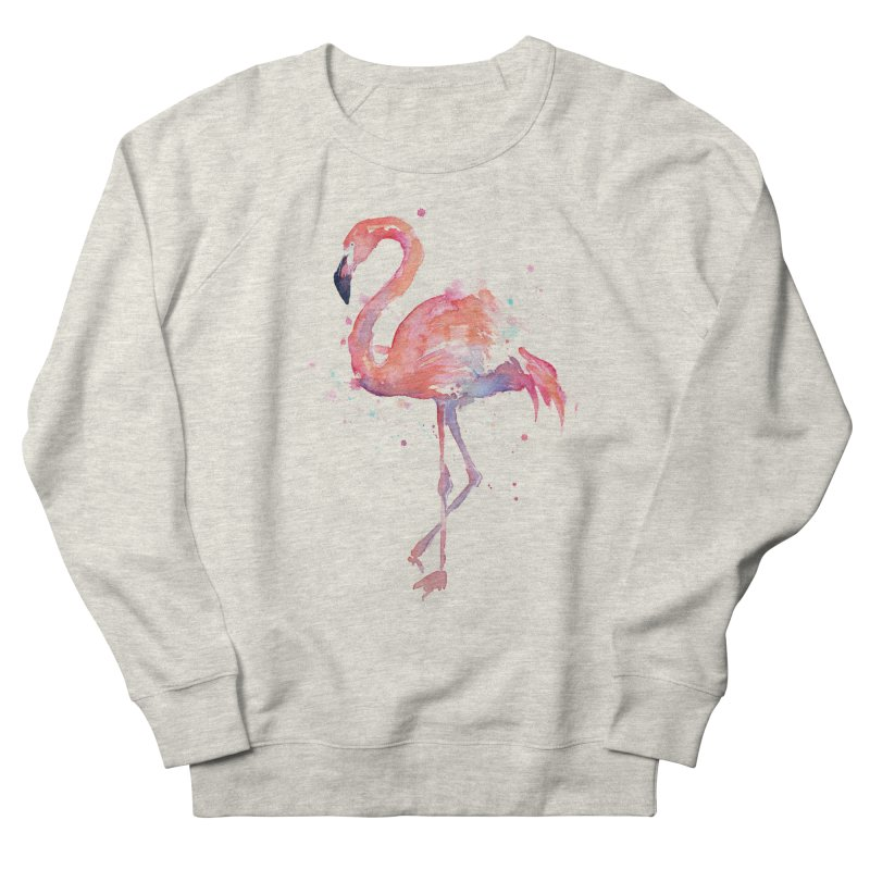 Flamingo Men's Sweatshirt by Art by Olga Shvartsur