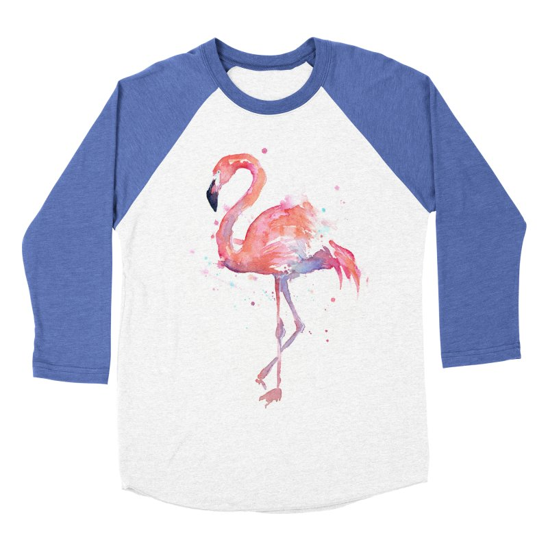 Flamingo Men's Baseball Triblend T-Shirt by Art by Olga Shvartsur