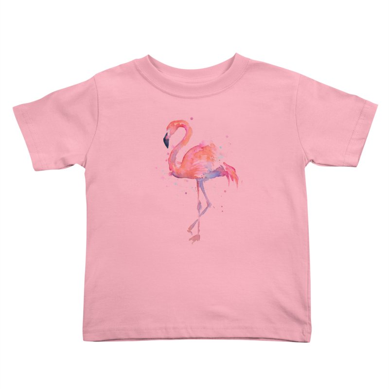 Flamingo Kids Toddler T-Shirt by Art by Olga Shvartsur