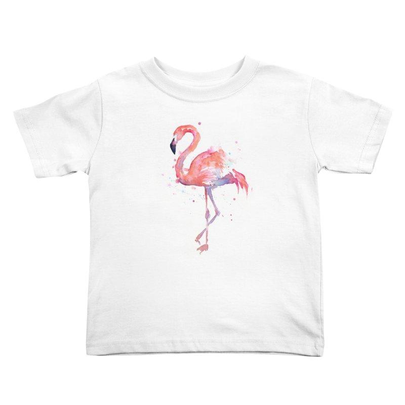 Flamingo Kids Toddler T-Shirt by Art by Olga Shvartsur