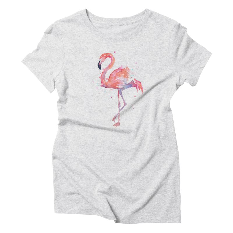 Flamingo Women's Triblend T-Shirt by Art by Olga Shvartsur
