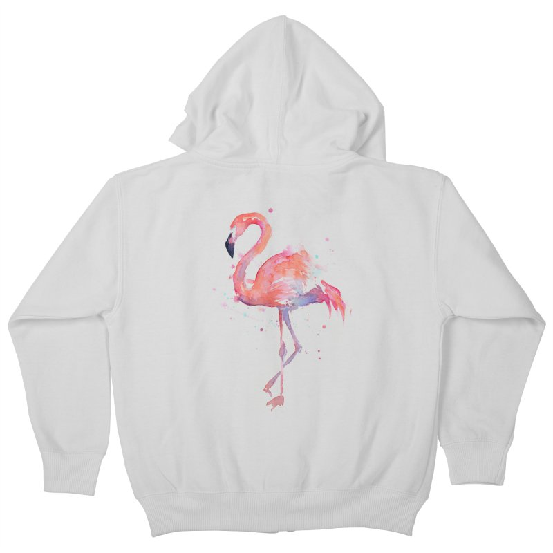 Flamingo Kids Zip-Up Hoody by Art by Olga Shvartsur