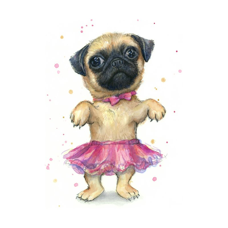 Pug in a Tutu Kids T-Shirt by Art by Olga Shvartsur