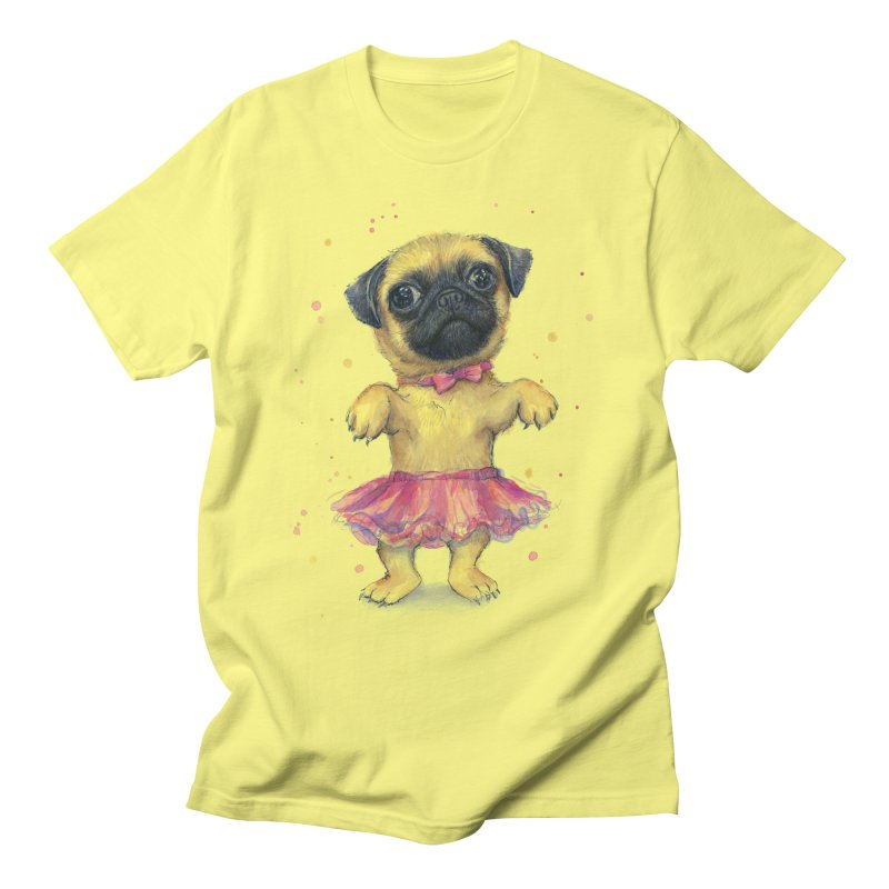 Pug in a Tutu Men's T-Shirt by Art by Olga Shvartsur