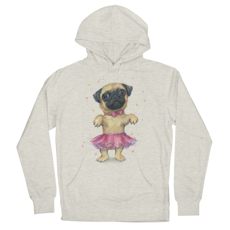 Pug in a Tutu Women's Pullover Hoody by Art by Olga Shvartsur