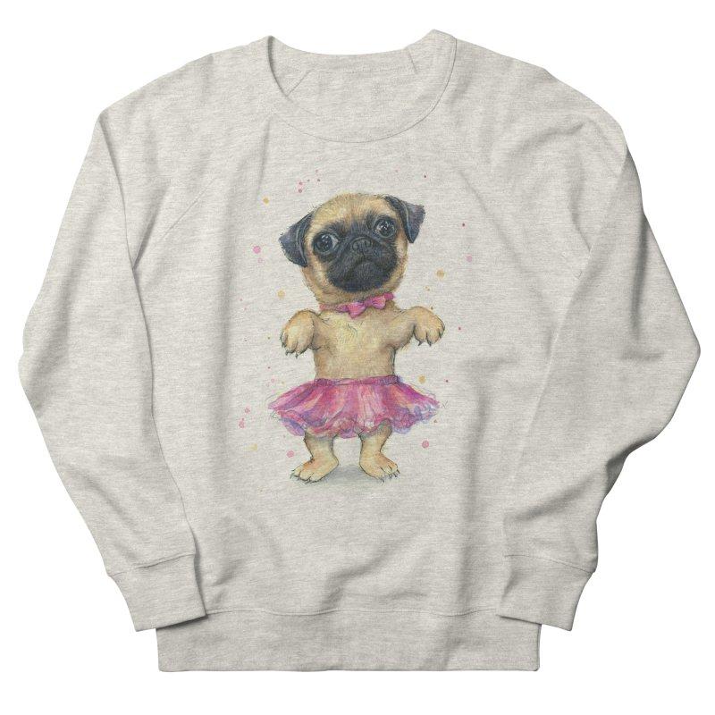 Pug in a Tutu Women's French Terry Sweatshirt by Art by Olga Shvartsur