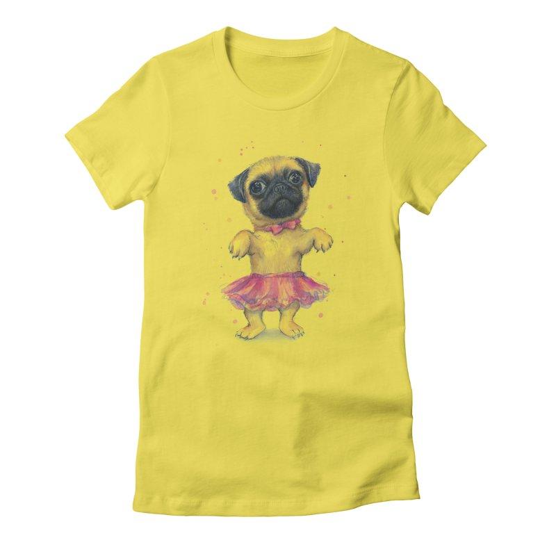 Pug in a Tutu Women's T-Shirt by Art by Olga Shvartsur