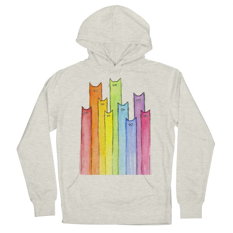 Rainbow of Cats Men's French Terry Pullover Hoody by Art by Olga Shvartsur