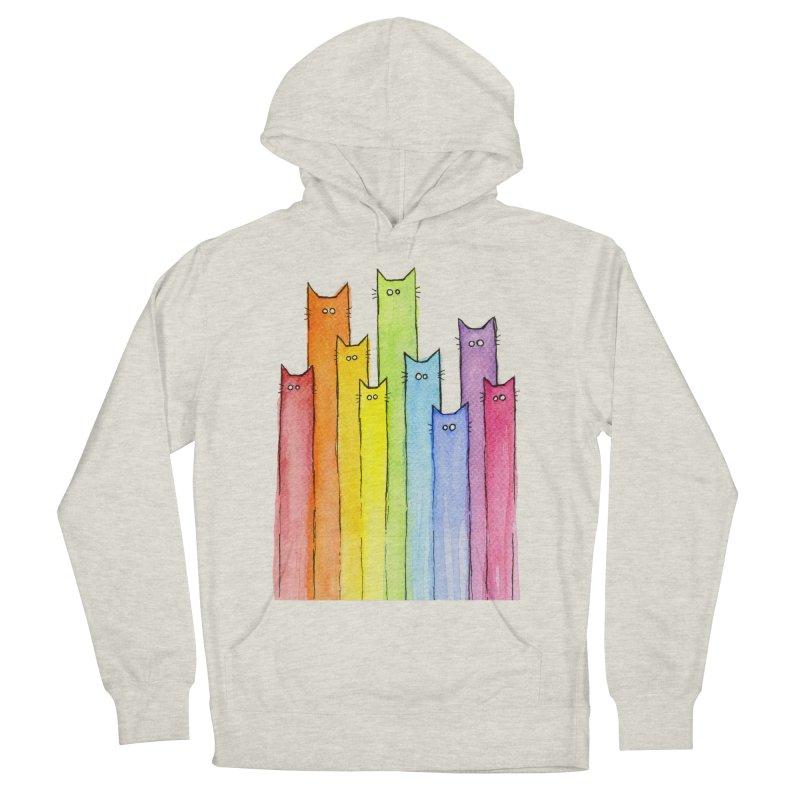 Rainbow of Cats Men's Pullover Hoody by Art by Olga Shvartsur