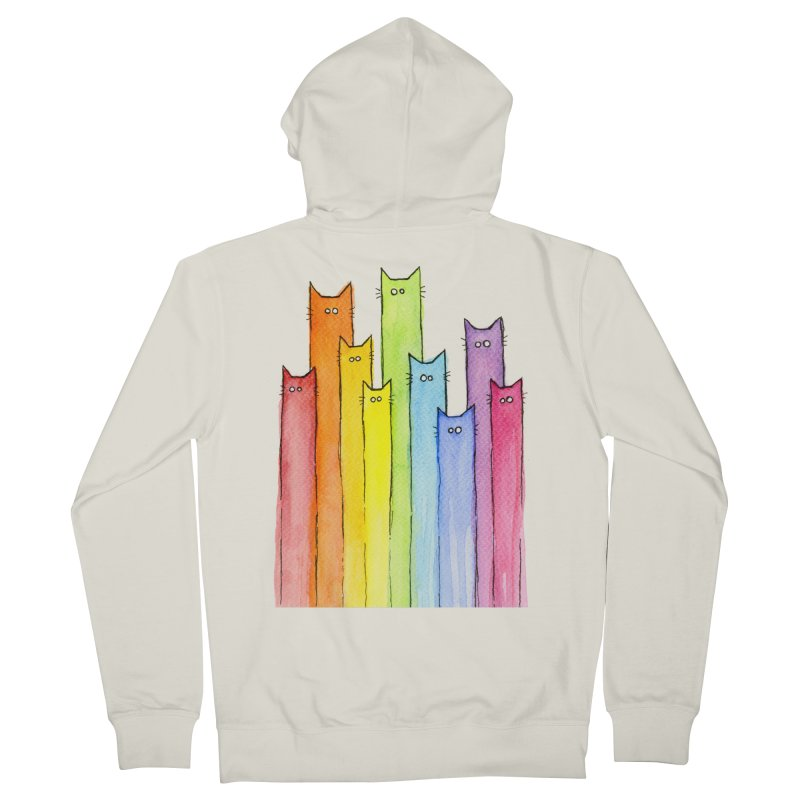 Rainbow of Cats Women's Zip-Up Hoody by Art by Olga Shvartsur