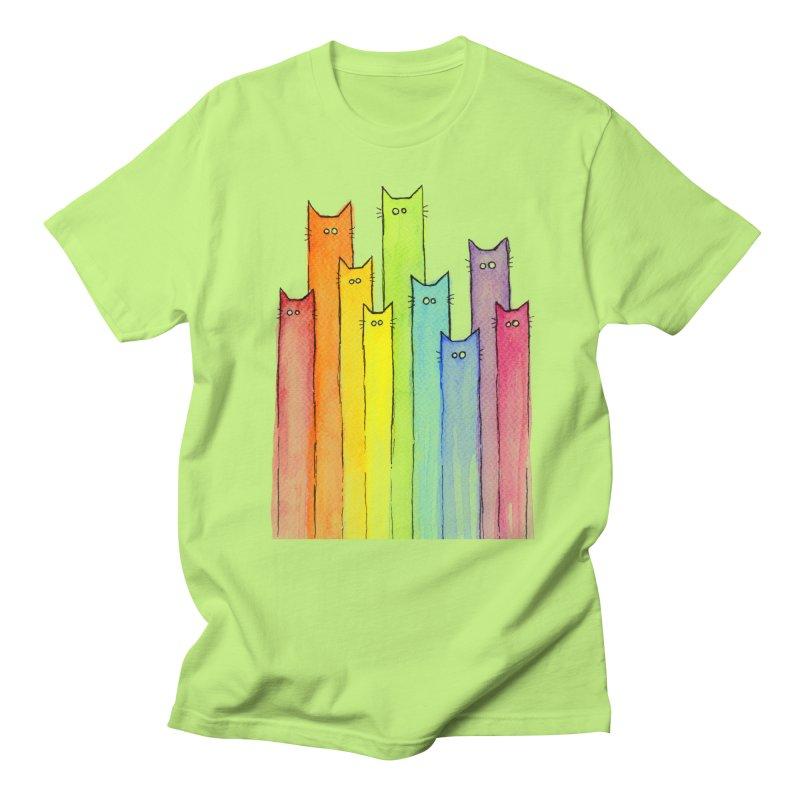 Rainbow of Cats Men's T-Shirt by Art by Olga Shvartsur