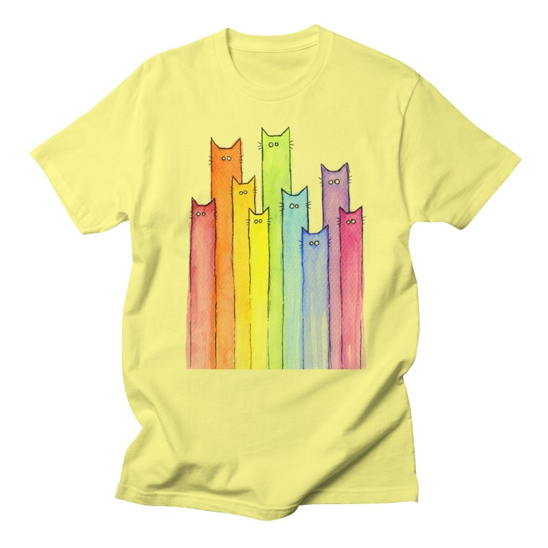 Rainbow of Cats Men's T-Shirt by Art by Olga Shvartsur