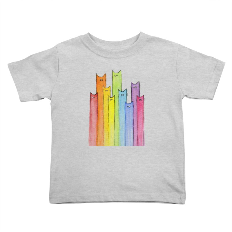 Rainbow of Cats Kids Toddler T-Shirt by Art by Olga Shvartsur