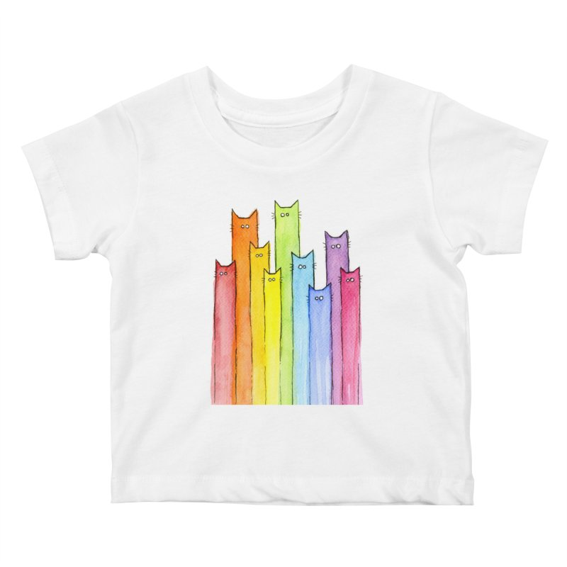 Rainbow of Cats Kids Baby T-Shirt by Art by Olga Shvartsur
