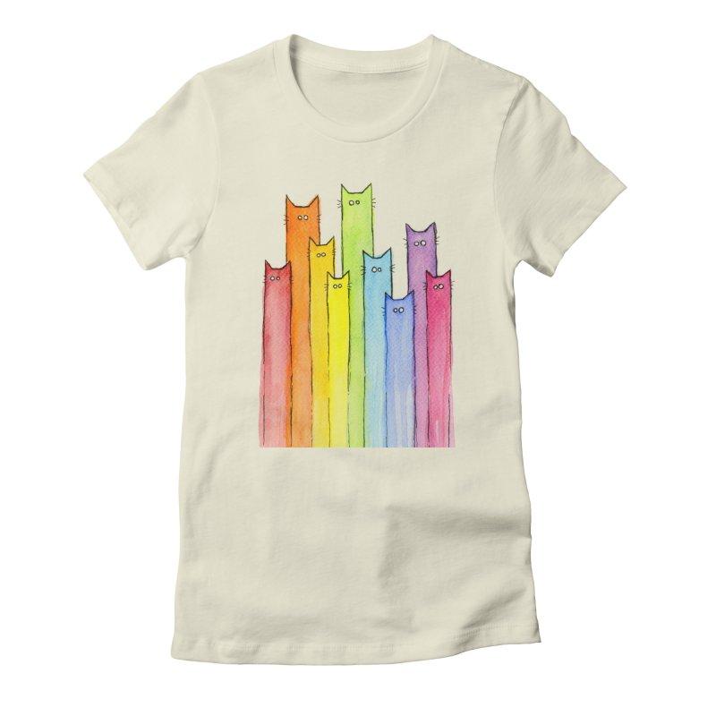 Rainbow of Cats Women's T-Shirt by Art by Olga Shvartsur