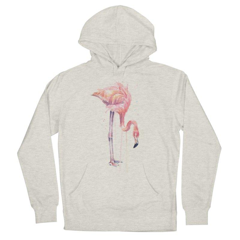 Flamingo Watercolor Women's Pullover Hoody by Art by Olga Shvartsur