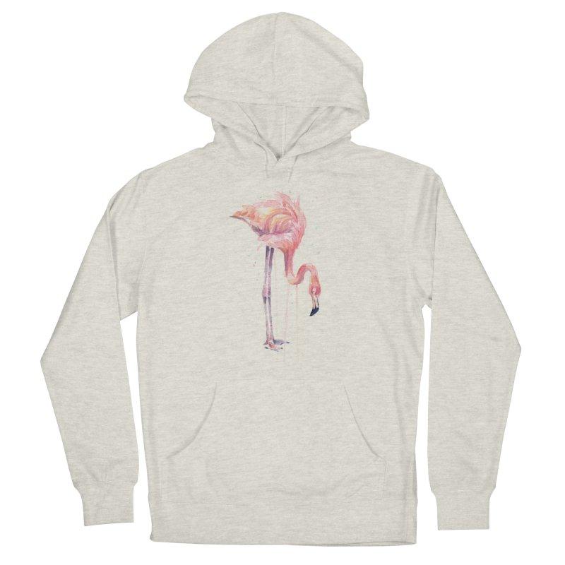Flamingo Watercolor Men's Pullover Hoody by Art by Olga Shvartsur
