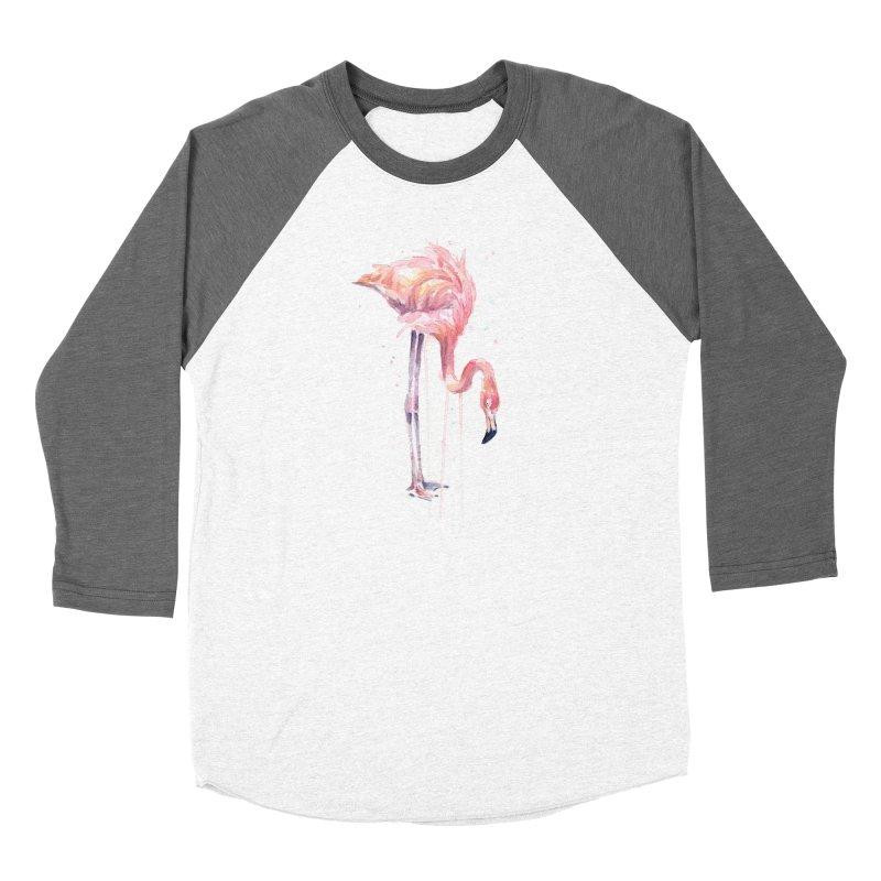Flamingo Watercolor Women's Longsleeve T-Shirt by Art by Olga Shvartsur