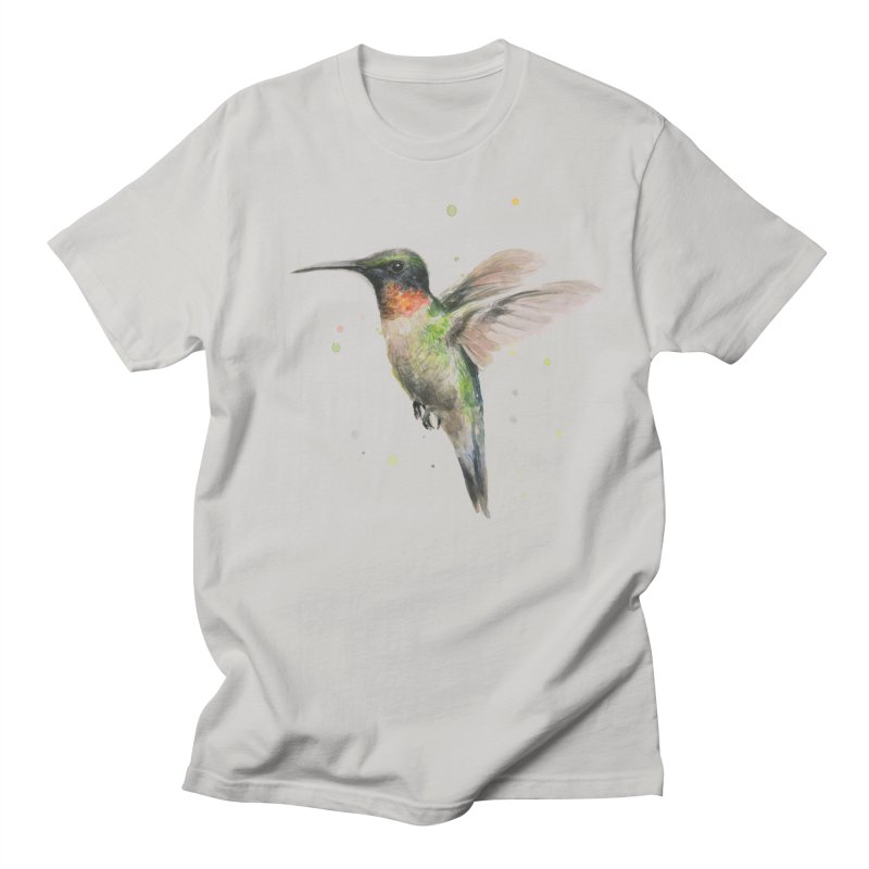 Hummingbird Watercolor Men's T-Shirt by Art by Olga Shvartsur