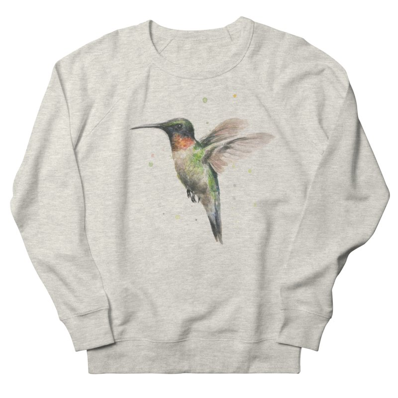 Hummingbird Watercolor Men's Sweatshirt by Art by Olga Shvartsur