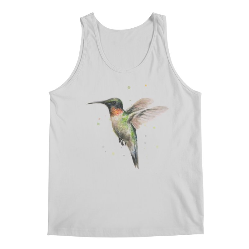 Hummingbird Watercolor Men's Regular Tank by Art by Olga Shvartsur