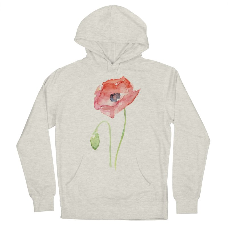 Red Poppy Women's Pullover Hoody by Art by Olga Shvartsur