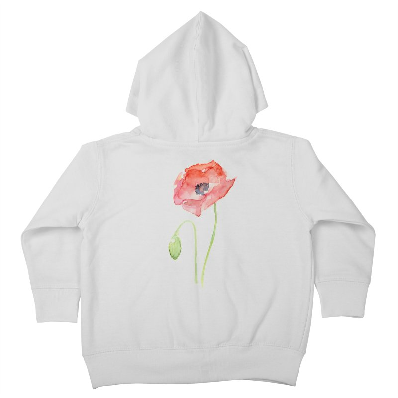 Red Poppy Kids Toddler Zip-Up Hoody by Art by Olga Shvartsur