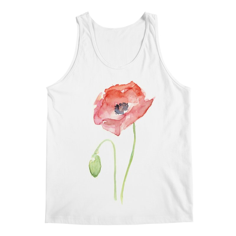 Red Poppy Men's Regular Tank by Art by Olga Shvartsur