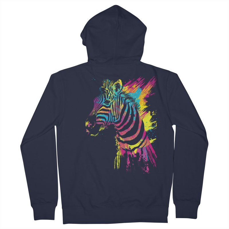 Zebra Splatters Women's Zip-Up Hoody by Art by Olga Shvartsur
