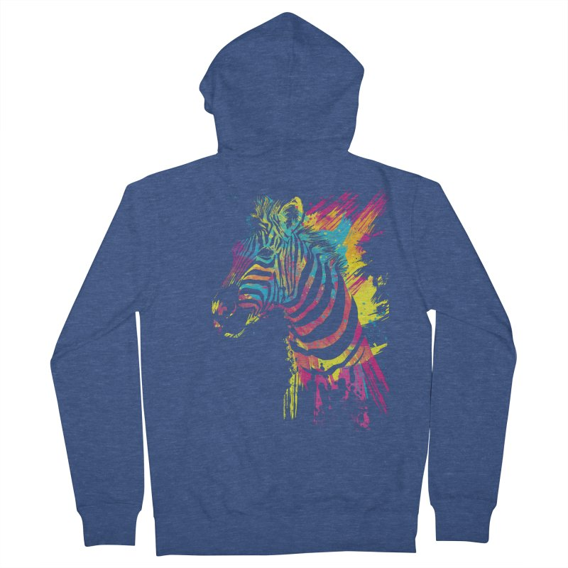 Zebra Splatters Men's Zip-Up Hoody by Art by Olga Shvartsur