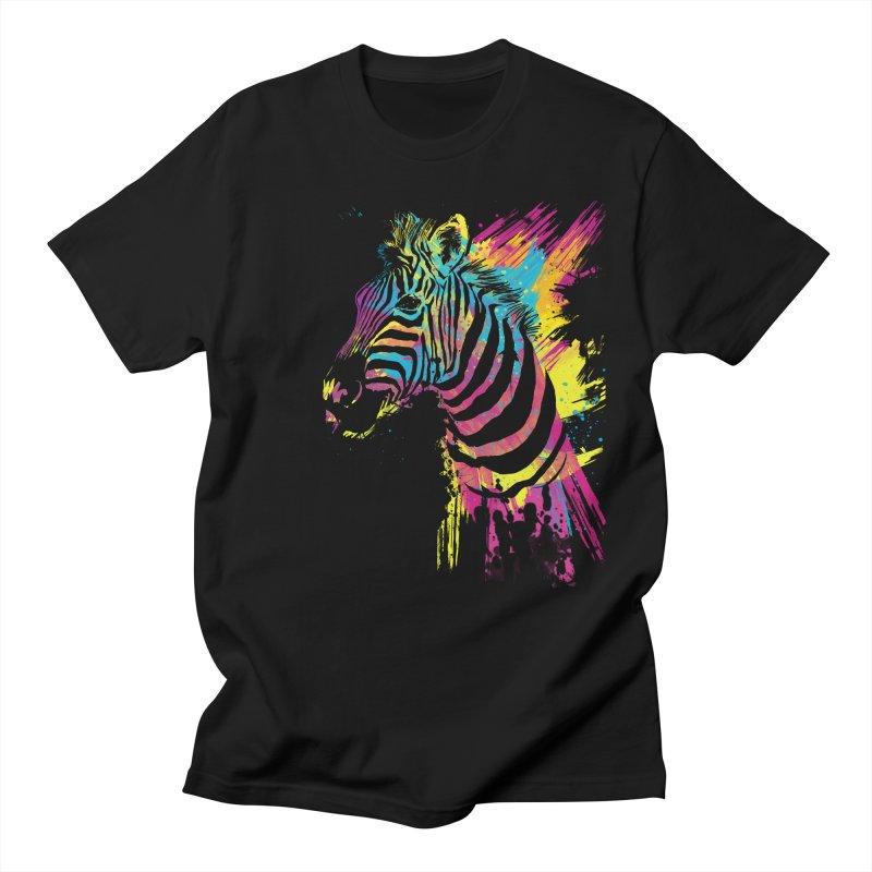 Zebra Splatters Men's Regular T-Shirt by Art by Olga Shvartsur