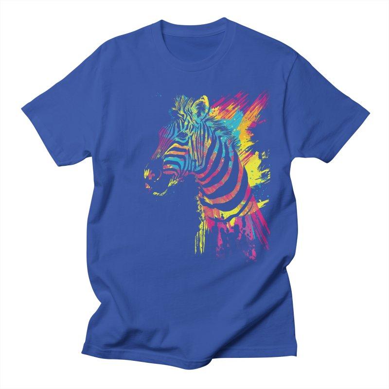 Zebra Splatters Men's T-Shirt by Art by Olga Shvartsur
