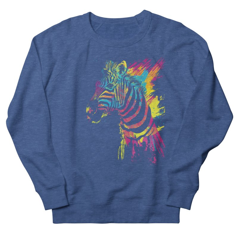 Zebra Splatters Men's Sweatshirt by Art by Olga Shvartsur