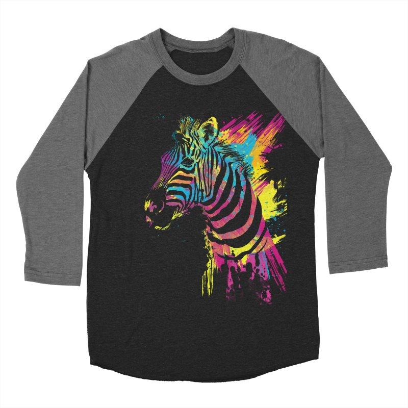 Zebra Splatters Women's Baseball Triblend T-Shirt by Art by Olga Shvartsur