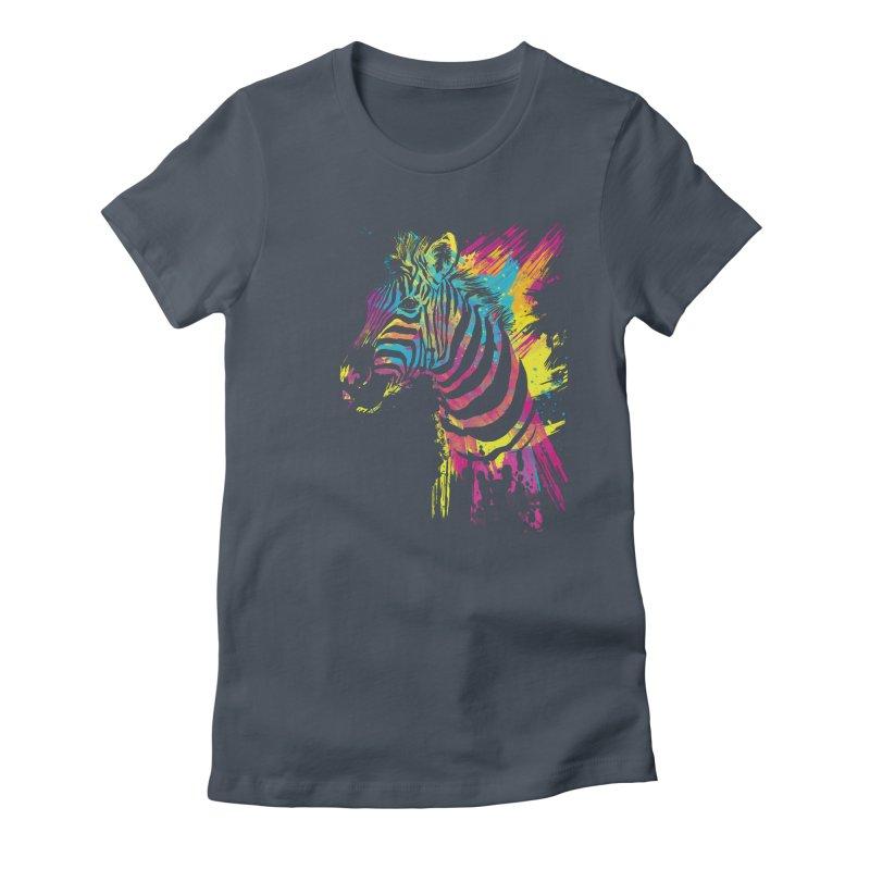 Zebra Splatters Women's T-Shirt by Art by Olga Shvartsur