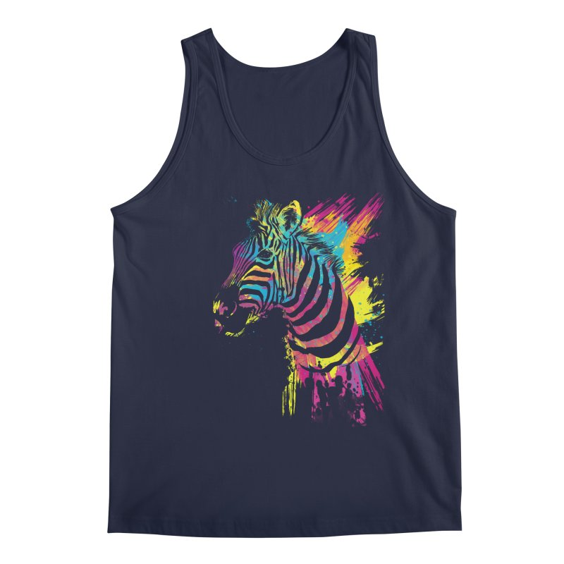 Zebra Splatters Men's Regular Tank by Art by Olga Shvartsur