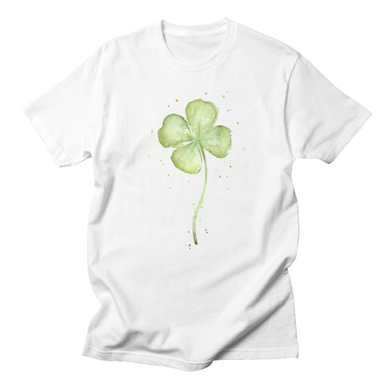 Lucky Charm - Four Leaf Clover Men's T-Shirt by Art by Olga Shvartsur