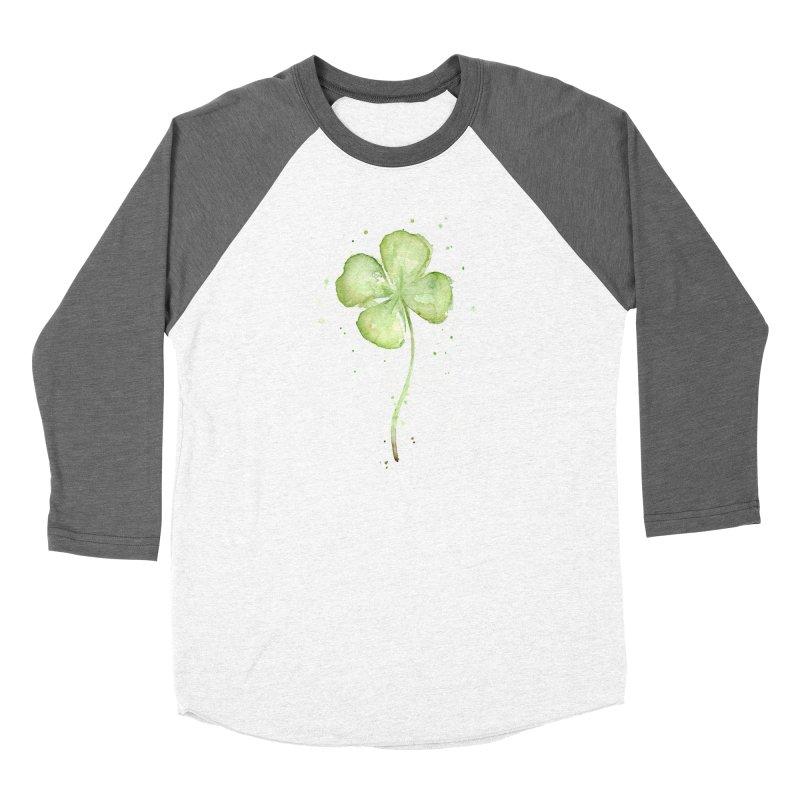 Lucky Charm - Four Leaf Clover Women's Longsleeve T-Shirt by Art by Olga Shvartsur
