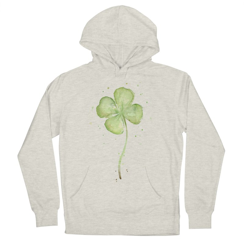 Lucky Charm - Four Leaf Clover Men's French Terry Pullover Hoody by Art by Olga Shvartsur