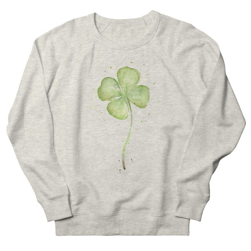 Lucky Charm - Four Leaf Clover Women's French Terry Sweatshirt by Art by Olga Shvartsur