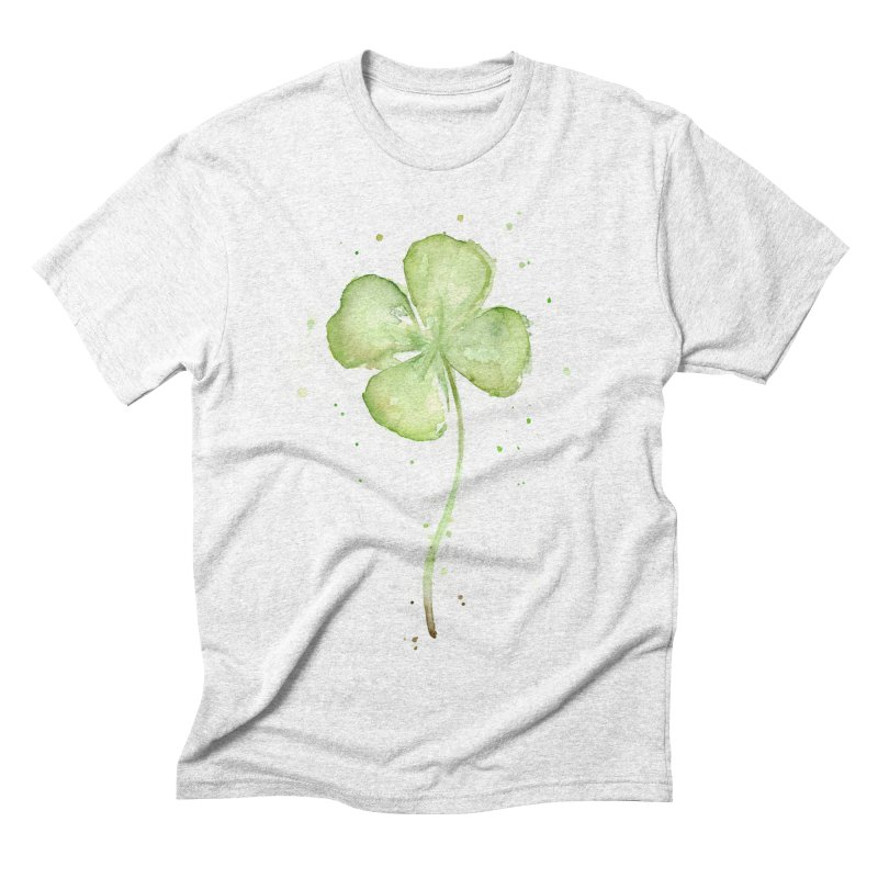 Lucky Charm - Four Leaf Clover Men's Triblend T-shirt by Art by Olga Shvartsur