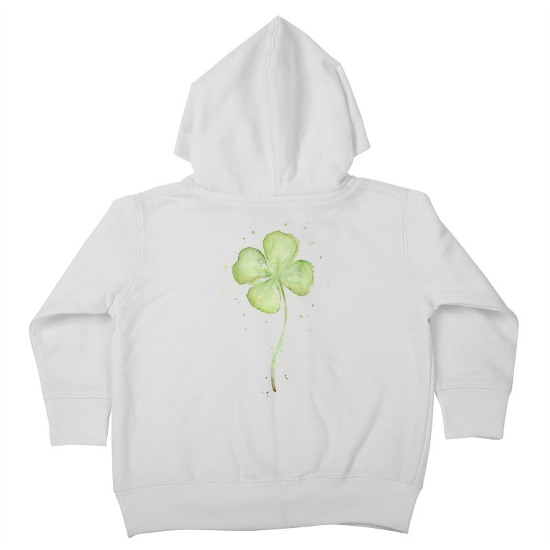 Lucky Charm - Four Leaf Clover Kids Toddler Zip-Up Hoody by Art by Olga Shvartsur