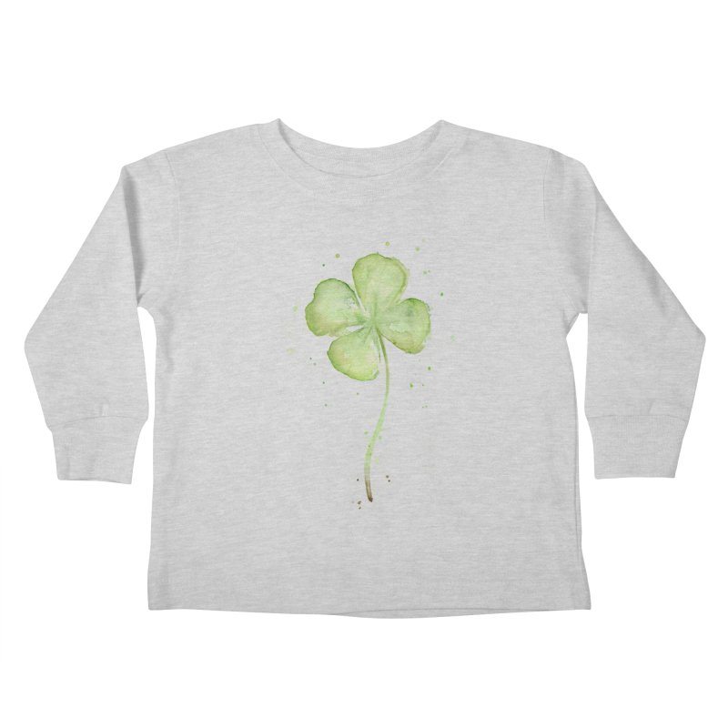 Lucky Charm - Four Leaf Clover Kids Toddler Longsleeve T-Shirt by Art by Olga Shvartsur