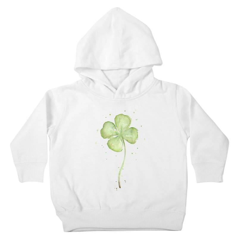 Lucky Charm - Four Leaf Clover Kids Toddler Pullover Hoody by Art by Olga Shvartsur