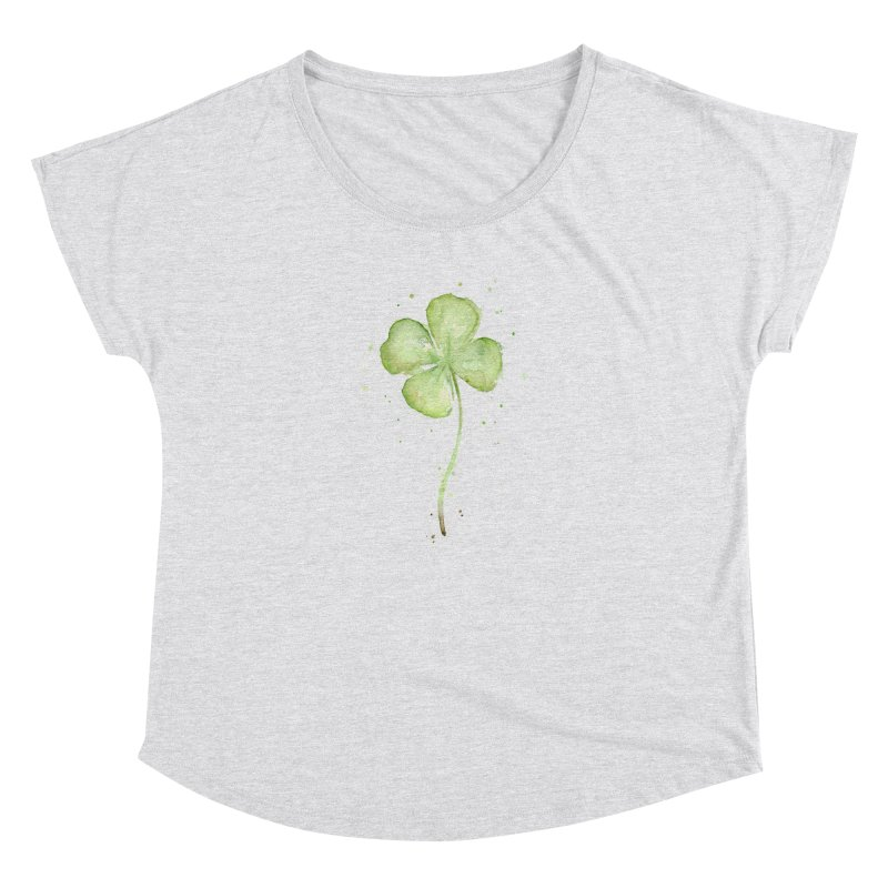 Lucky Charm - Four Leaf Clover Women's Dolman Scoop Neck by Art by Olga Shvartsur