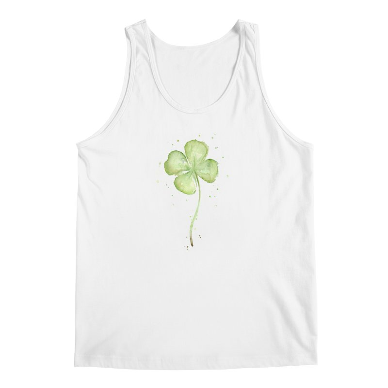 Lucky Charm - Four Leaf Clover Men's Tank by Art by Olga Shvartsur
