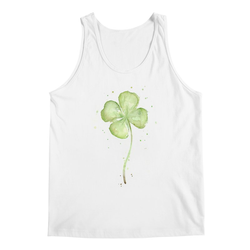 Lucky Charm - Four Leaf Clover Men's Regular Tank by Art by Olga Shvartsur
