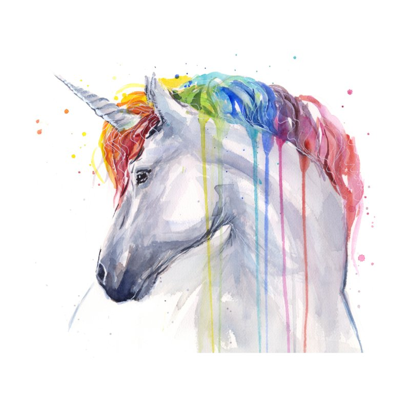 Rainbow Unicorn by Art by Olga Shvartsur