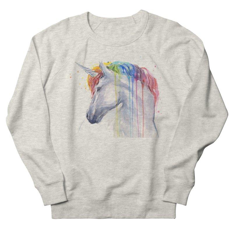 Rainbow Unicorn Women's French Terry Sweatshirt by Art by Olga Shvartsur